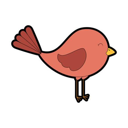 Cute bird isolated icon vector illustration design Illustration