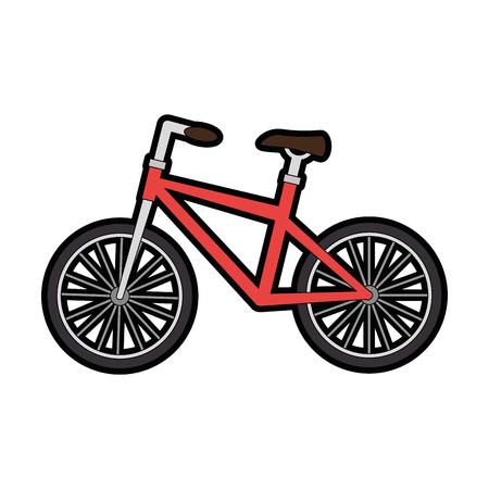 Bicycle vehicle isolated icon vector illustration design Illustration