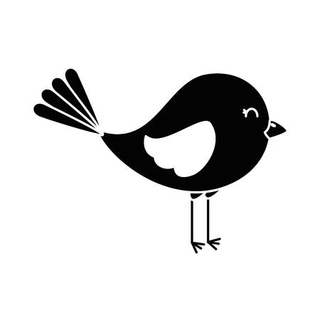Cute bird isolated icon vector illustration design Иллюстрация