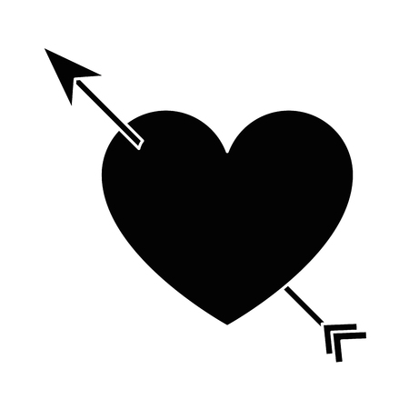 Heart with arrow icon vector illustration design Illustration