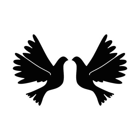 Birds flying icon Illustration