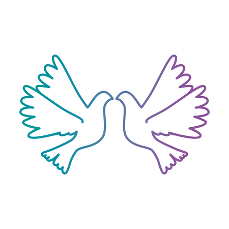 doves flying isolated icon vector illustration design Vectores