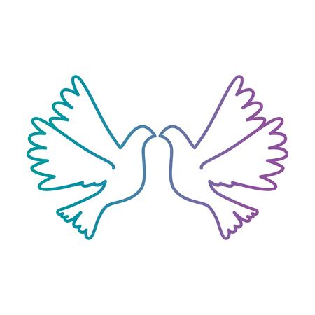 Tauben fliegen isoliert Symbol Vektor-Illustration , Design , Standard-Bild - 93524714