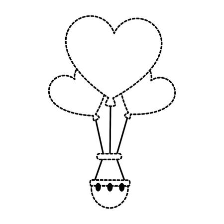 Heart shape hot air balloon