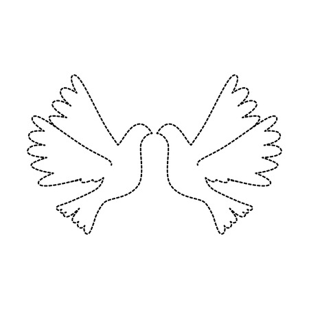 Birds flying icon Ilustração