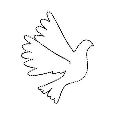 Vogel vliegen pictogram Stockfoto - 93515762