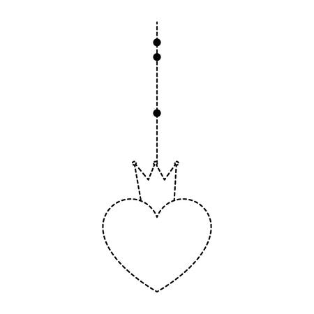 Hangend hart met kroonpictogram Stockfoto - 93515764