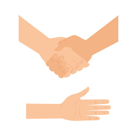 Handshake human help icon illustration design Иллюстрация