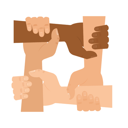 People holding hands people  icon concept illustration.