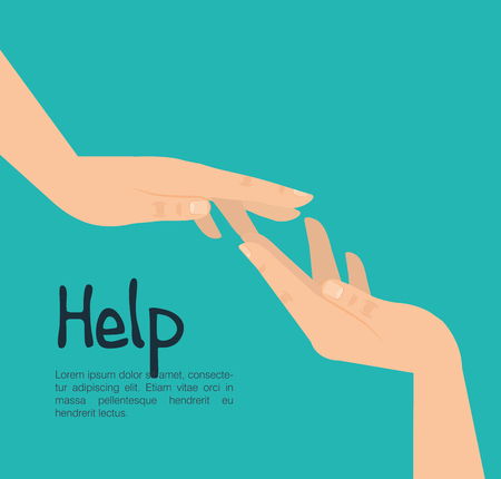 hands human help icon vector illustration design