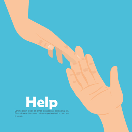 Helping hands icon Ilustracja