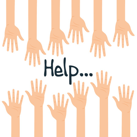 Human Hands help icon illustration design