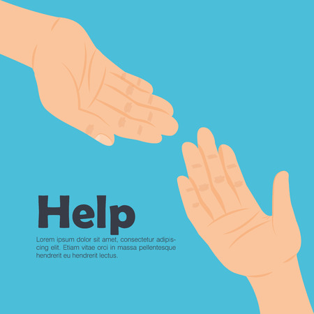 Human hands help icon concept  illustration design