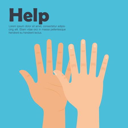 Human hands help icon concept  illustration design