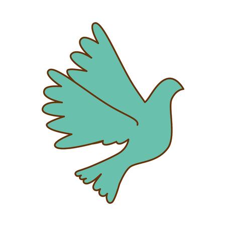 鳩飛ぶ孤立したアイコンベクトルイラストデザイン 写真素材 - 93611718