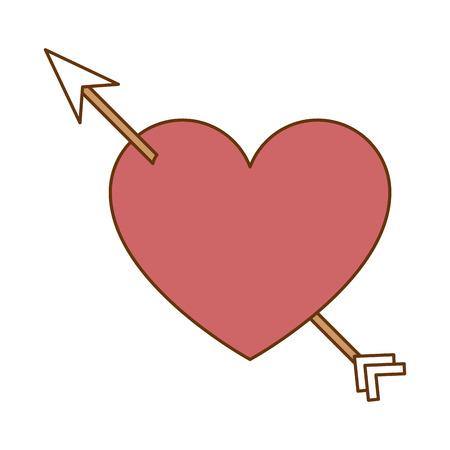 heart with arrow icon vector illustration design