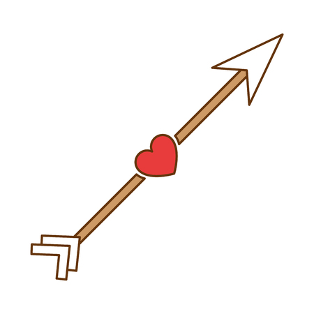 arrow with heart icon vector illustration design Illusztráció