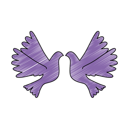 鳩が飛ぶ孤立したアイコンベクトルイラストデザイン 写真素材 - 93527124