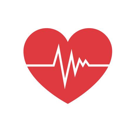 Coeur cardio isolé icône du design illustration vectorielle Banque d'images - 93527119