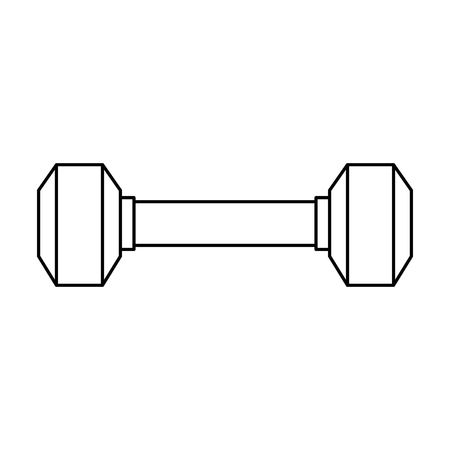 weight lifting gym device vector illustration design