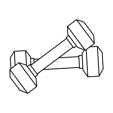 Weight lifting gym devices vector illustration design.