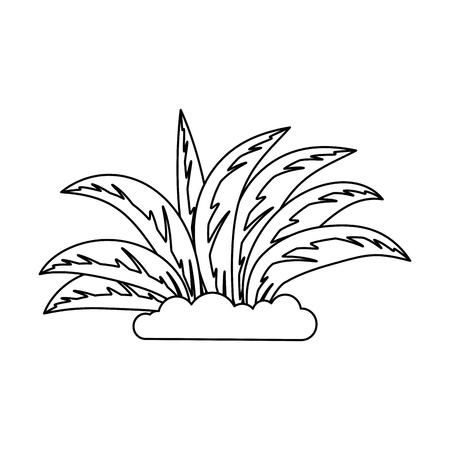 plant gecultiveerd geïsoleerd pictogram vector illustratie ontwerp Stock Illustratie