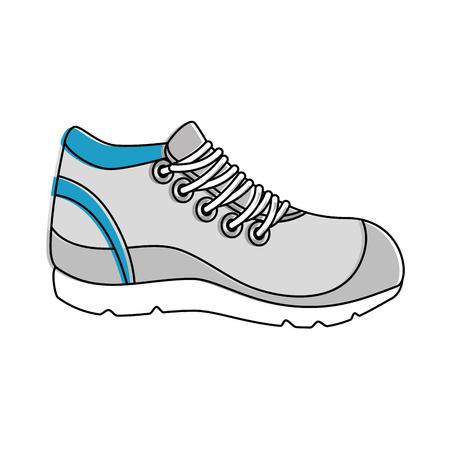 sport schoen tennis pictogram vector illustratie ontwerp