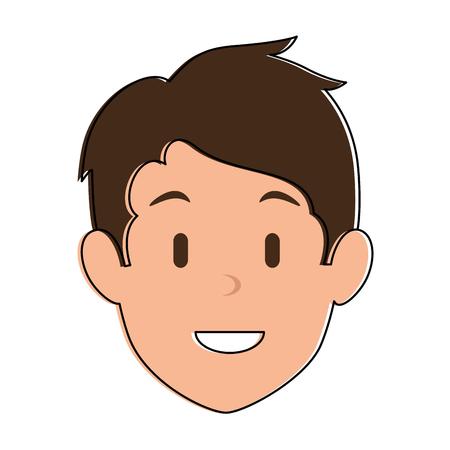 젊은이 머리 아바타 캐릭터 벡터 일러스트 디자인 스톡 콘텐츠 - 93534970