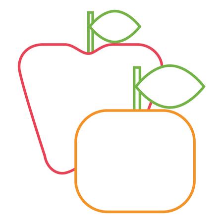 apple and orange fruit fresh icon vector illustration Stock Vector - 93531315