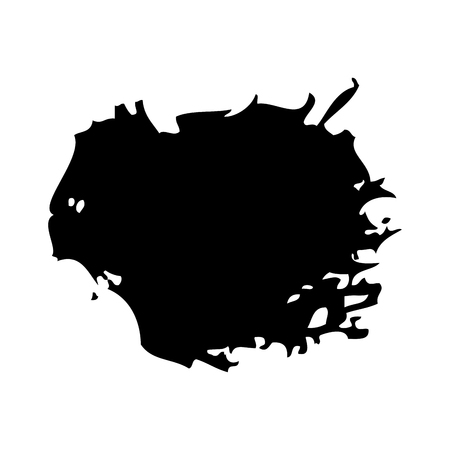 brush ink stain round grunge dirty element vector illustration