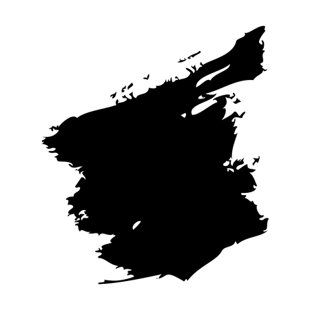 ink brush stroke and texture black paint vector illustration