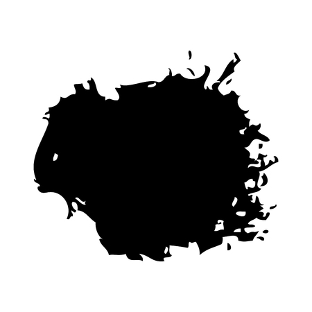 Brush ink stain round grunge dirty element vector illustration. Illustration