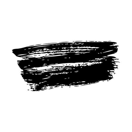 Ink brush stroke grunge hand painted vector illustration.