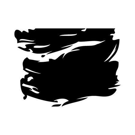 Ink brush stroke and texture black paint vector illustration.