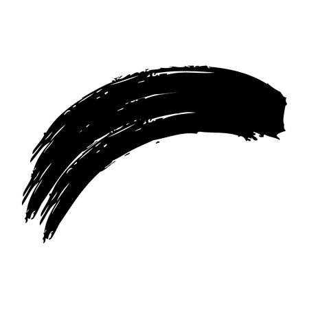 ink brush wave curved paint artistic vector illustration 矢量图像