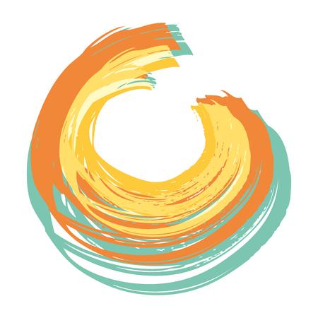 手描きの円グランジテクスチャベクトルイラスト  イラスト・ベクター素材