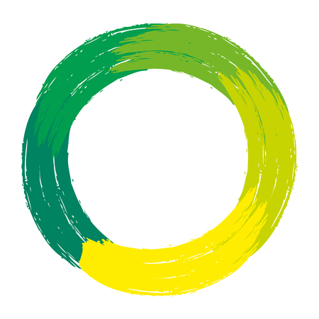 hand painted circle grunge texture vector illustration 向量圖像