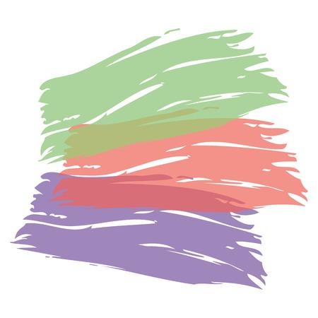 カラーブラシ塗装水彩画抽象塗装テクスチャベクトルイラスト 写真素材 - 93615902