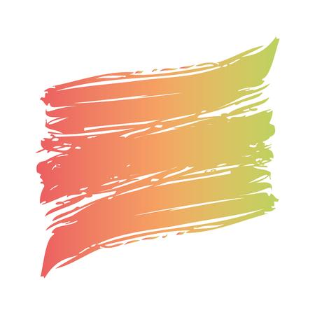 カラーブラシ塗装水彩画抽象塗装テクスチャベクトルイラスト  イラスト・ベクター素材