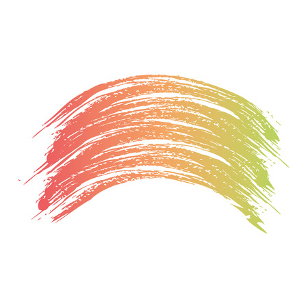 bush stroke hand colorful artistic wave abstract vector illustration Illustration