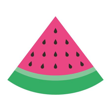 slice watermelon fruit fresh icon vector illustration Stock Illustratie