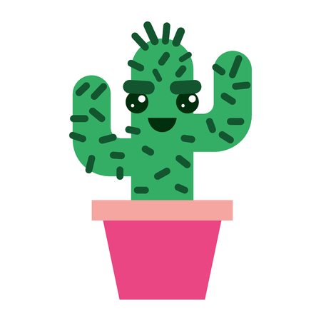 cartoon potted cactus  character vector illustration Stok Fotoğraf - 93534810