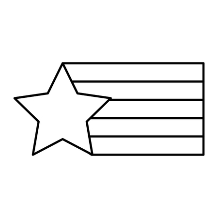 Star flag striped fashion design creative vector illustration outline design