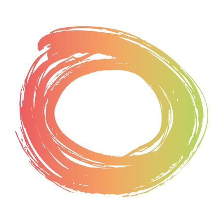 브러시 잉크 페인트 원 스트로크 오점 디자인 벡터 일러스트 레이션