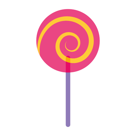 sweet candy cane swirl round vector illustration