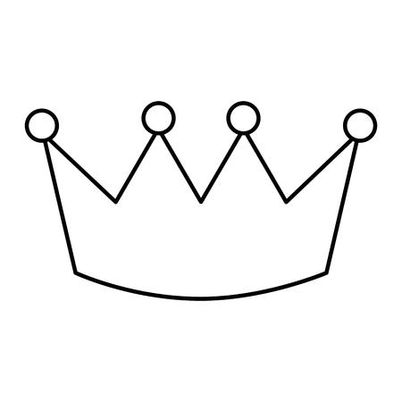 Crown outline design 向量圖像