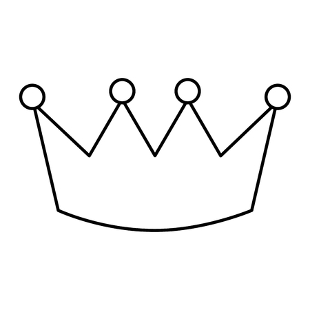 Crown outline design Illustration