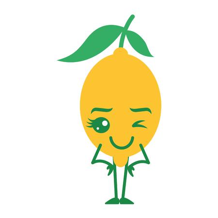 citrus lemon cartoon fruit vector illustration