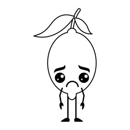 슬픈 감귤류 레몬 스톡 콘텐츠 - 93549117