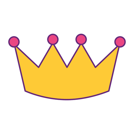 Crown luxury royal monarchy icon vector illustration Illusztráció